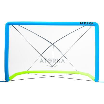 But gonflable de beach handball HIG500 bleu jaune