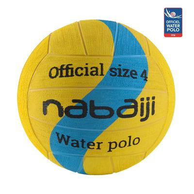 BALLON WATER POLO 500 TAILLE 4 JAUNE BLEU NEW