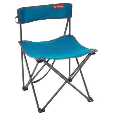 Chaise de camping / camp du randonneur bleue