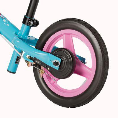 Draisienne enfant 10 pouces Run Ride bleu et Rose