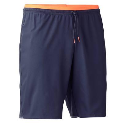 Short de football adulte F500 gris orange