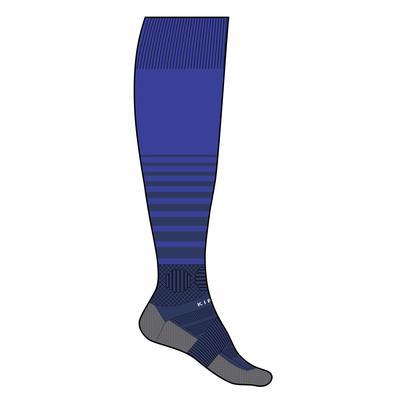 Chaussette de football adulte F500 bleu marine
