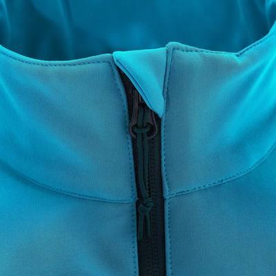 Veste Softshell Randonnée Femme WindWarm 100 Carribbean Bleu