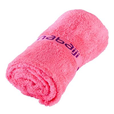 Serviette microfibre ultra douce rose fluo taille L 80 x 130 cm