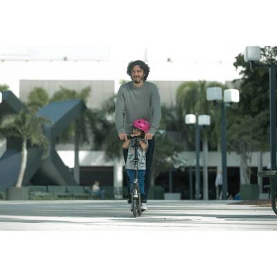 Casque roller skateboard trottinette vélo PLAY 3 rose
