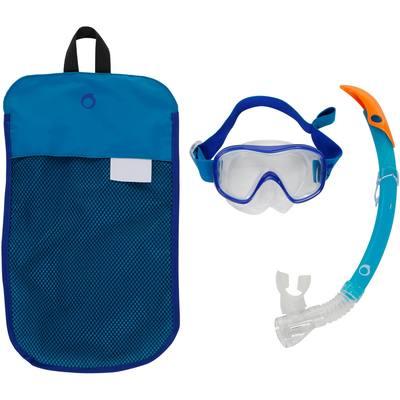 Kit MT masque tuba de snorkeling SNK 520 adulte bleu turquoise