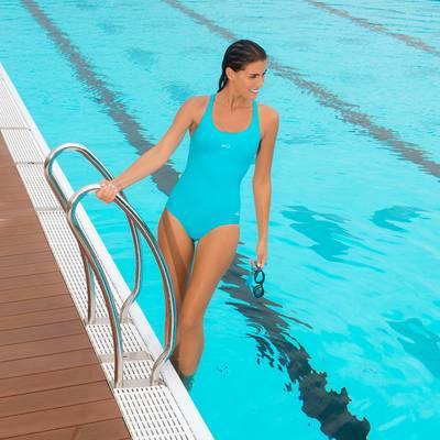Maillot de bain de natation une pièce femme Leony noir