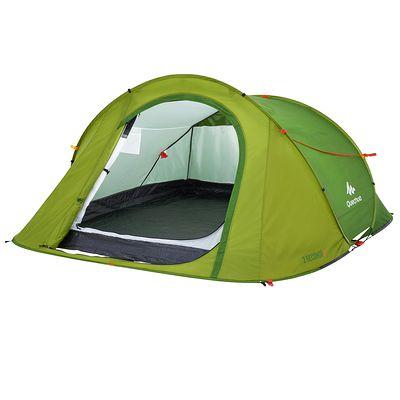 Tente de camping 2 seconds easy 3 personnes vert