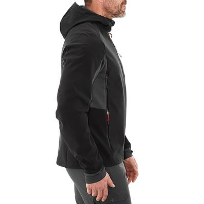 Veste Softshell Randonnée Homme WindWarm 500 Noir