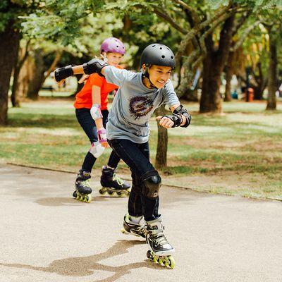 Roller fitness enfant FIT 5 JUNIOR bleu noir