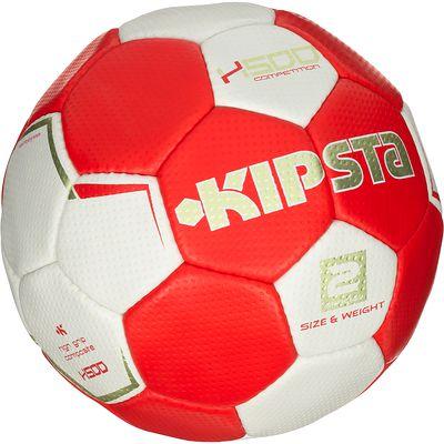 Ballon handball H500 taille 2 rouge blanc