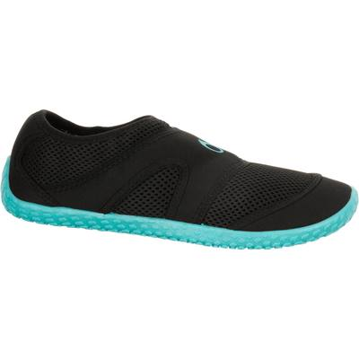 Chaussures aquatiques Aquashoes 100 noires turquoises