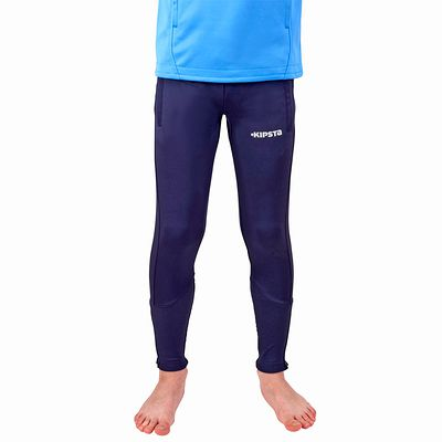 Pantalon entraînement football adulte T500 bleu