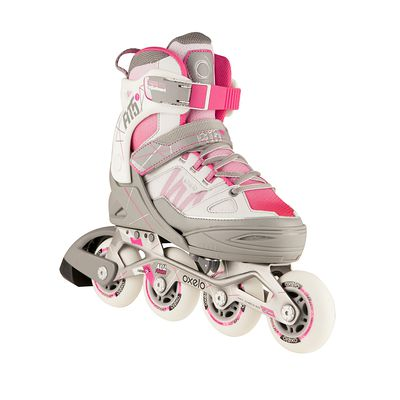 Roller fitness enfant FIT 5 Jr rose/blanc