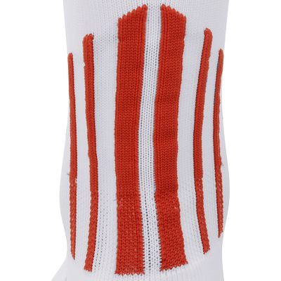 Chaussettes hautes football adulte F 500 blanc rouge