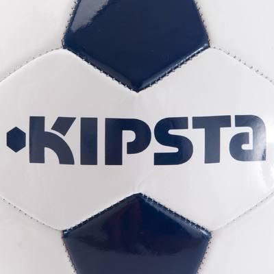 Ballon de football First Kick taille 3 (enfants de 5-7ans) blanc bleu