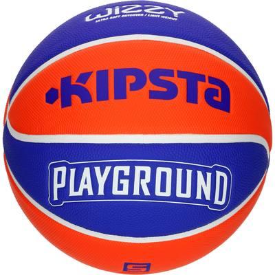 Ballon de Basketball enfant Wizzy taille 5 Playground bleu orange