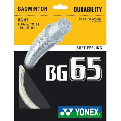 CORDAGE RAQUETTE DE BADMINTON BG 65 10 M YONEX