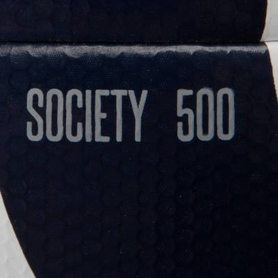 Ballon football Society 300 Hybride blanc bleu