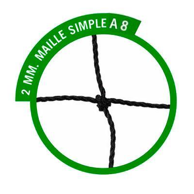 filets buts à sceller à  8 trapézoïdale  2mm  simple (la paire)