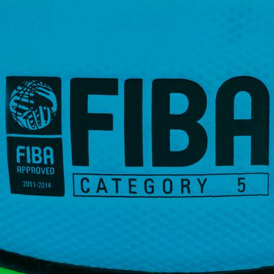 Ballon Basketball enfant Wizzy taille 5 FIBA vert Série Limitée
