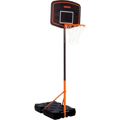 Panier de basket enfant B200 EASY bleu orange. 1,6m à 2,2m. Réglage facile.