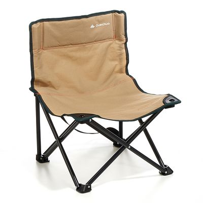 Mobilier camping chaisse basse marron