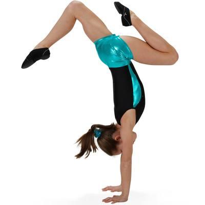 Shorty Paillettes fille gym noir