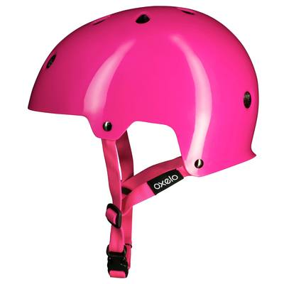 Casque roller skateboard trottinette vélo PLAY 3 rose