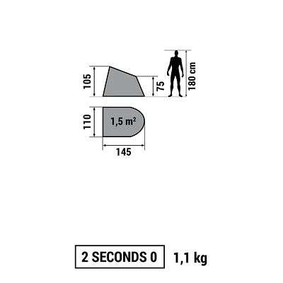ABRI  RANDONNEE 2 SECONDS 0 UPF30 BLEU