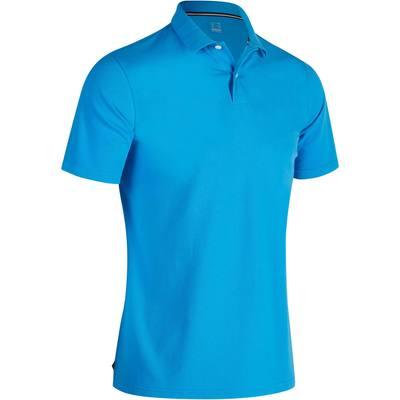 Polo de golf homme manches courtes 500 temps chaud bleu