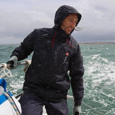 Veste chaude bateau homme 500 bleu foncé