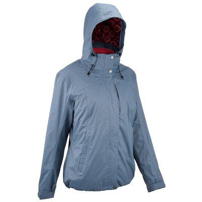 Veste Randonnée Femme Arpenaz 300 Rain 3en1 Bleu Gris