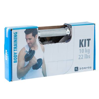 Kit haltères musculation 10 kg