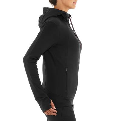Polaire randonnée femme Forclaz 400 strech noir