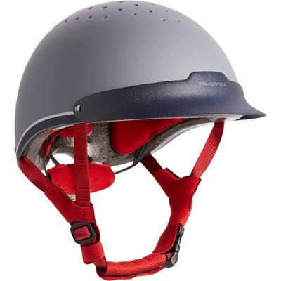 Casque équitation C120 gris et rouge