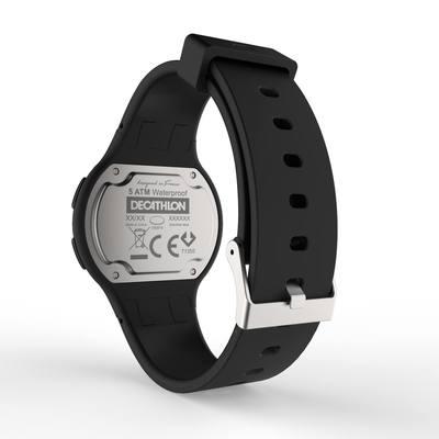 Montre chronomètre de course à pied femme et junior W100 S noire
