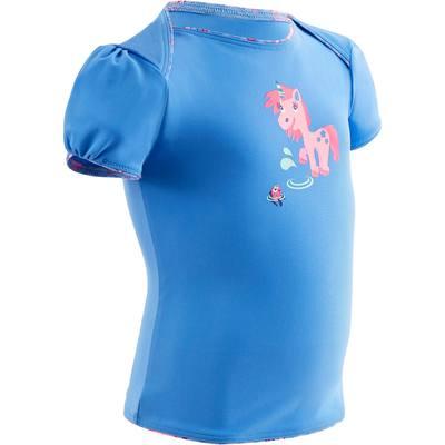 """Maillot de bain bébé fille tankini top bleu avec imprimé """"licorne"""""""
