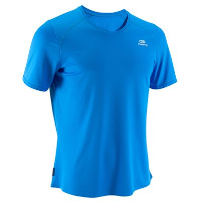 TEE SHIRT RUNNING HOMME RUN DRY BLEU