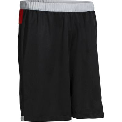 Short basketball B500 homme noir rouge gris  M