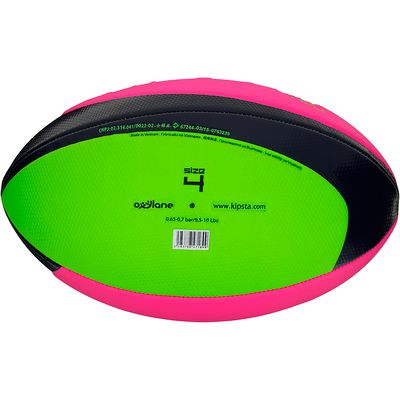 Ballon Beach rugby taille 4 vert rose
