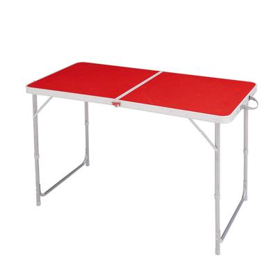 Table de camping / camp du randonneur 4 ou 6 personnes rouge