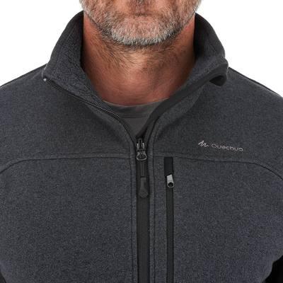 Veste Polaire randonnée montagne homme Forclaz 500 gris foncé