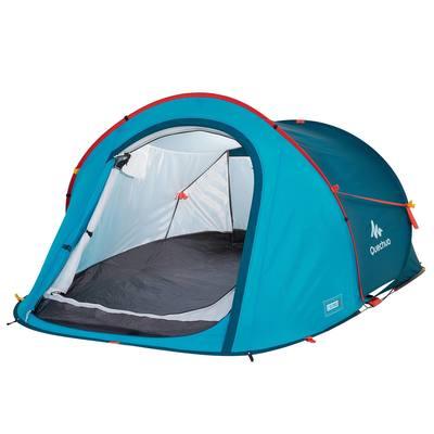 Tente de camping 2 SECONDS | 2 personnes bleu pétrole