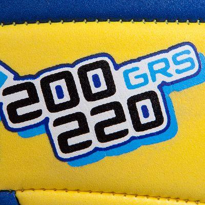 BALLON DE VOLLEY-BALL WIZZY 200G JAUNE ET BLEU POUR LES 6-9 ANS