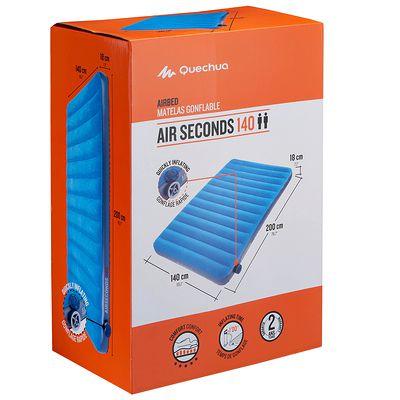 Matelas gonflable CAMPING / CAMP DU RANDONNEUR AIR SECONDS 140 | 2 pers. bleu