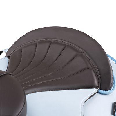 Bardette synthétique équipée équitation poney INITIATION bleu ciel et marron