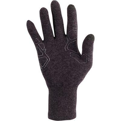 Sous-gants randonnée adulte Forclaz 50 soieTACTILES noirs