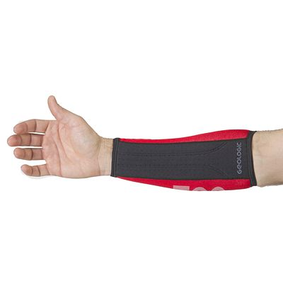 BRACELET DE PROTECTION TIR A L'ARC CLUB 700 ROUGE/NOIR
