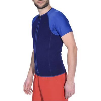 Top de snorkeling homme bleu manches bleues claires